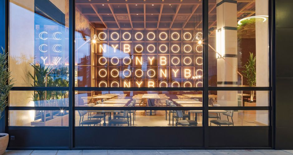 "A unit of New York Burger in Madrid wins a Restaurant Bar & Design Award 2019 The jury's verdict: ""Good balance between comfort, warmth, conviviality, but also smooth, reduced aesthetics. Pleasant change for a burger shop""."