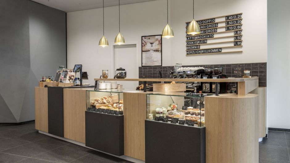 Meet after dinner or for a coffee. The coffee bar on the ground floor of Tower D.
