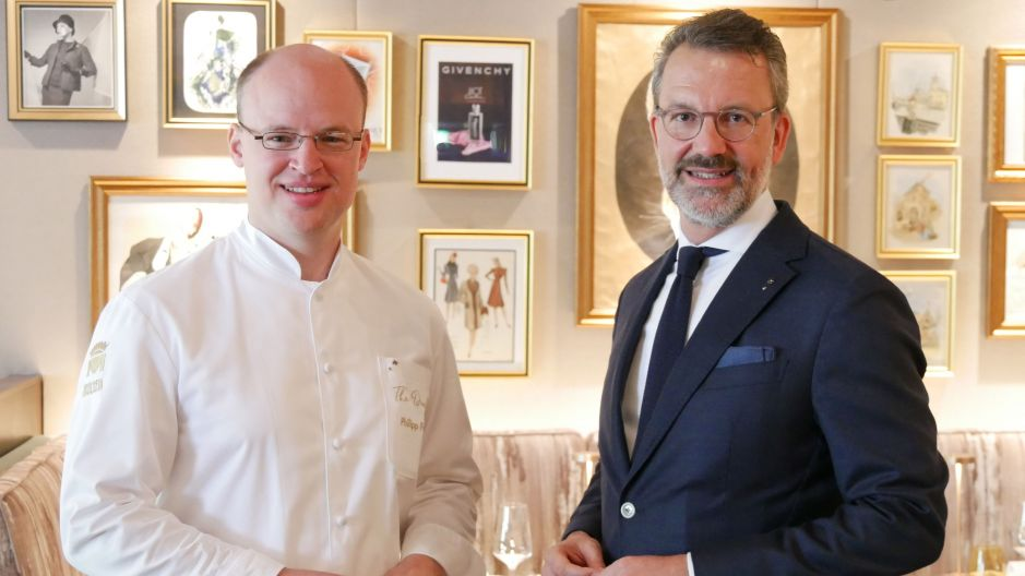 General Manager Cyrus Heydarian (right) and Chef Philipp Ferber.