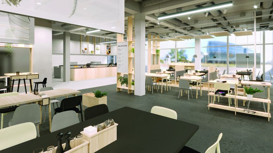 With the Beconic modular concept, companies can tailor an employee restaurant to their exact needs.