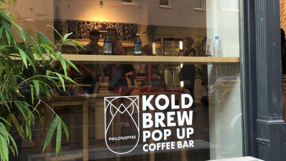 Pop Up Kaffeebar Philosoffee Pop Up Feierte Koldbrew In Berlin