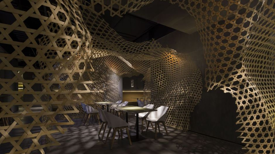 Chuan's Kitchen, Foshan, China. Design: Guangdong Infinity Mind Architecture Design Co., Kategorie: Oberflächen im Innendesign.