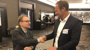 Bruno Wanske, (links, Bota Group) und Ralf Meyer (Chicco di caffè)
