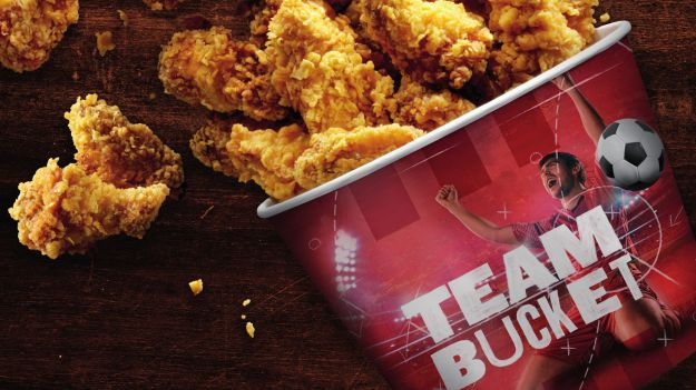 "Der KFC ""Team Bucket"" als Aktionsangebot."