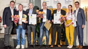 Sieger und Nominierte des Green Franchise Awards: Janny's Eis, Filtafry und Coffee Fellows.