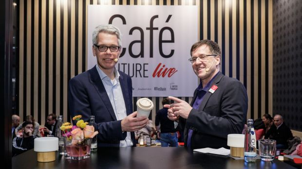 Coffee Fellows-Gründer Stefan Tewes im Talk mit foodservice-Chefredakteur Boris Tomic
