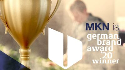 "in der Kategorie ""Brand Communication – Web and Mobile"" erhielt die MKN-Webseite den German Brand Award."