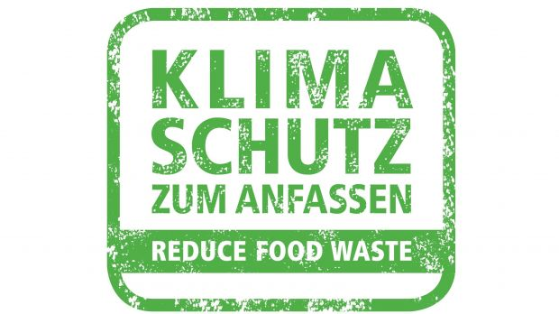 "Das Logo des Programms ""50% Reduce Food Waste"""