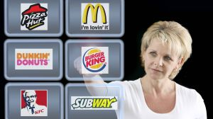 Burger King, McDonald's KFC Subway Auswahl